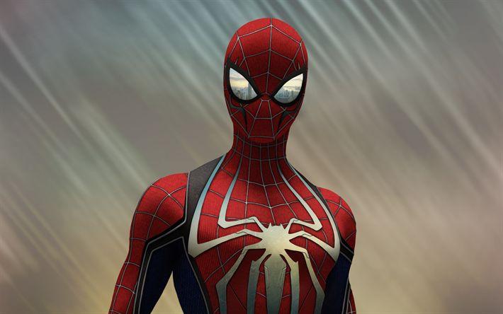 Download wallpapers Spiderman, 3d art, superheroes, Spider-Man