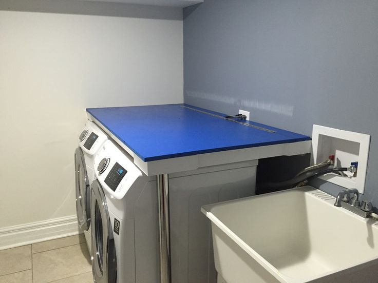 17 best ideas about he washer and dryer on pinterest for Laundry room countertop over washer and dryer