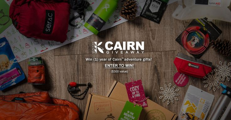 Win Cairn™ adventure gift box deliveries for the entire year!