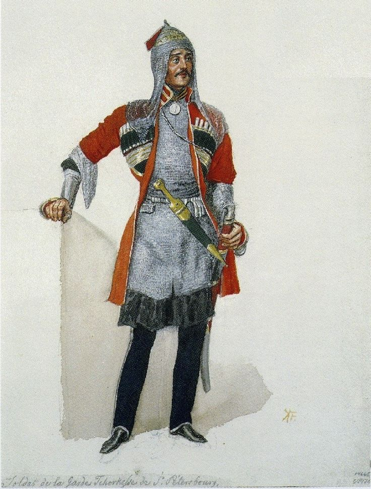 Circassian, soldier of the Circassian Corps of the Imperial Guard, 1840