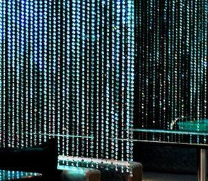 8ft x 3ft Endless Diamond Curtain Backdrops (PRINCESS-Style) - Clear Diamonds w/ Bendable Rod Top