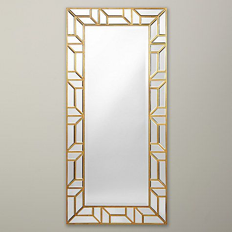Buy john lewis verbier full length wall mirror gold for Full length wall mirror