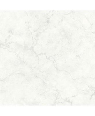 Brewster Home Fashions Innuendo Marble Wallpaper – 396″ x 20.5″ x 0.025″ – White