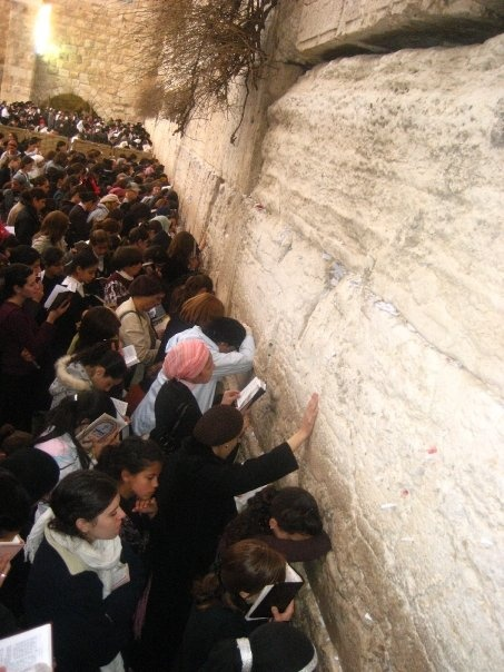 women Praying at the Westernwall in Israel I have prayed at this wall and placed a piece of paper in the wall