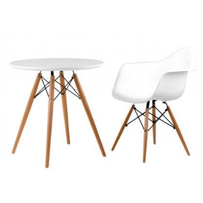 Stół DTW 70 cm, blat biały