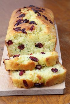 Lemon Cranberry Zucchini Quick Bread