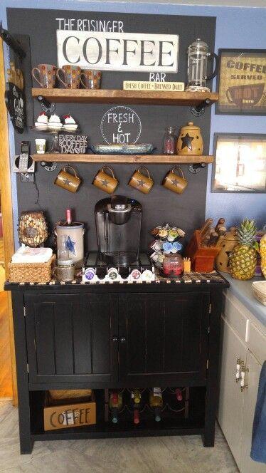 25 beste idee n over koffiecorner op pinterest koffie. Black Bedroom Furniture Sets. Home Design Ideas