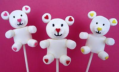 Lindsay Ann Bakes: Valentine Teddy Marshmallow Pops