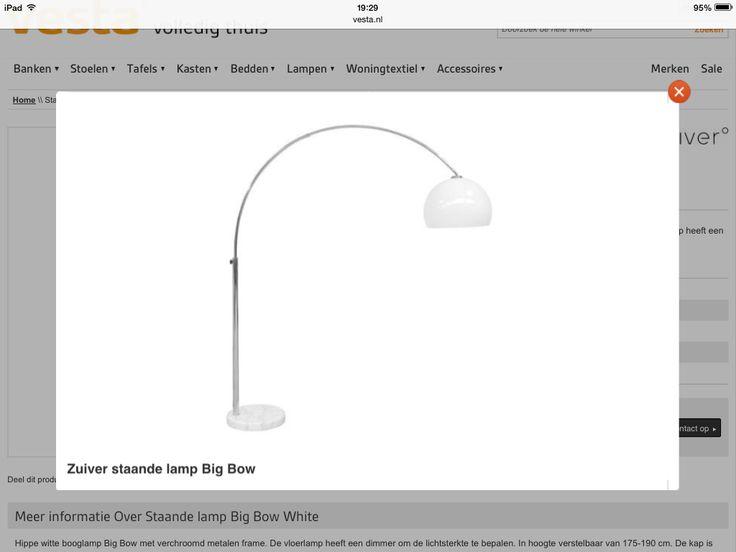 Staande lamp - boog - bol