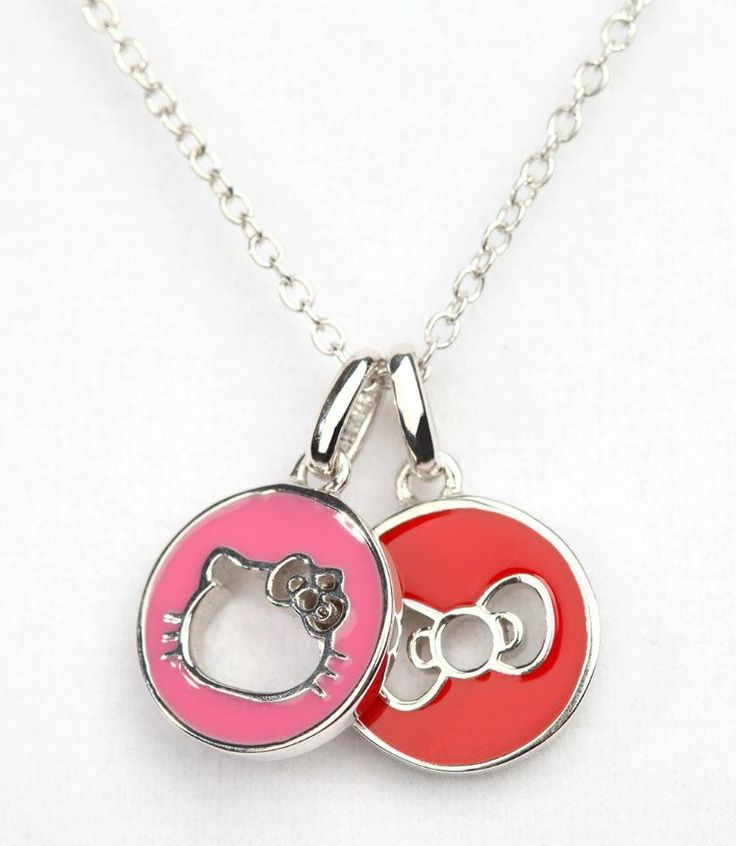 Charm necklace featuring iconic #HelloKitty and her Bow. Keep it close to your heart!