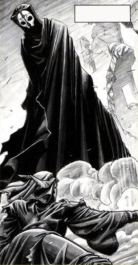 Darth Nihilus encounters Visas Marr as he walks on the devastated surface of Katarr.