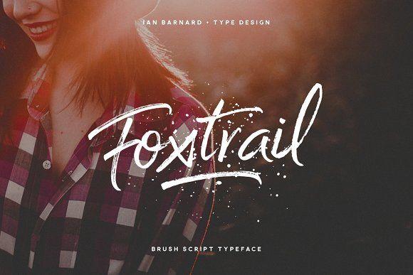 Foxtrail Font by Ian Barnard on @creativemarket