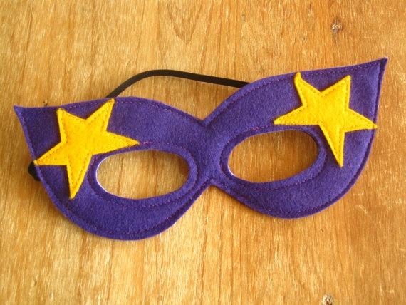 Purple Felt Super Hero mask by littlebitdesignshop on Etsy, $12.00