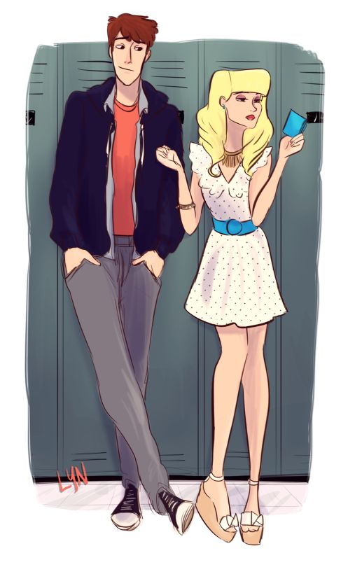 High school Dipper and Pacifica