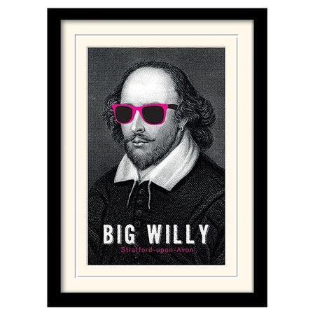 So haben Sie den großen Meister des Theaters noch nie gesehen: Diese geschmackvoll gerahmte Wandkunst gibt Shakespeare ein poppiges Update und wird so zu ei...