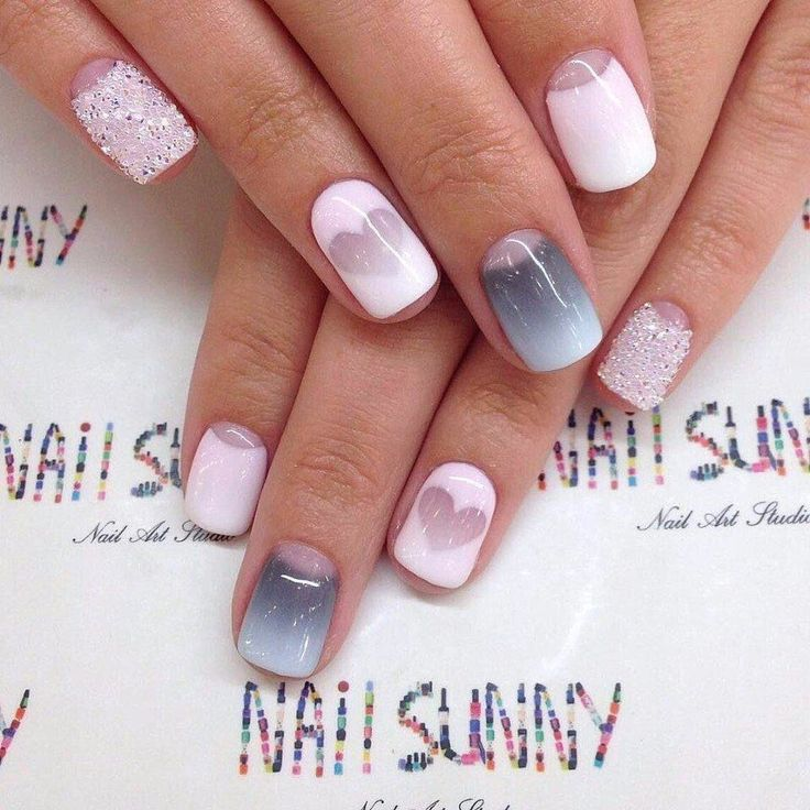 Would you like to look wonderful at the New Year's party to the fingertips? Then this manicure will be suitable. ...
