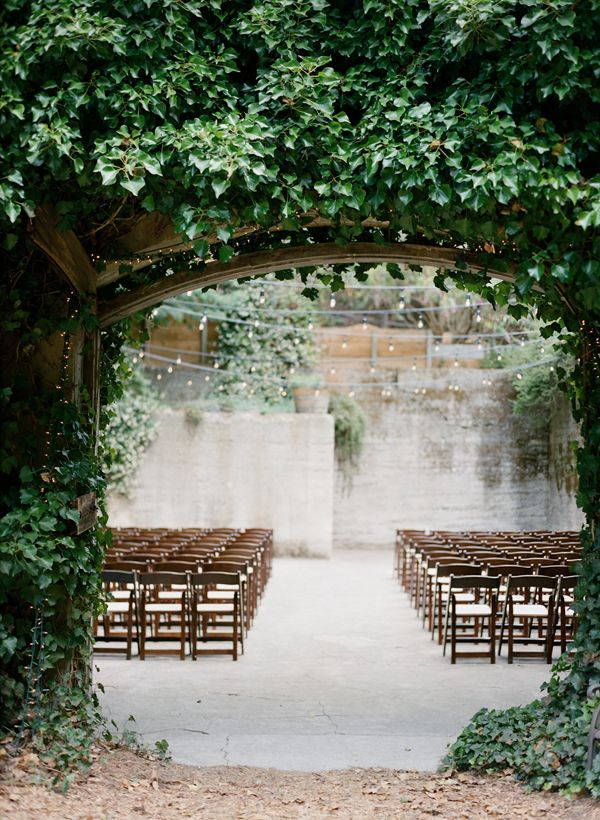 Outdoor wedding venue with twinkle lights // Pinned by Dauphine Magazine, curated by Castlefield (wedding invitation, branding, pattern designs: www.castlefield.co). International Couture Fashion/Luxury Wedding Crossover Magazine, www.dauphinemagazine.com. Instagram: @ dauphinemagazine / @ castlefieldco. Dauphine only claims credit for own images.