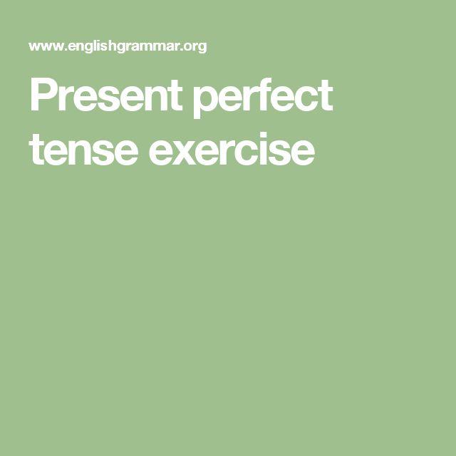 present perfect tense pdf exercises