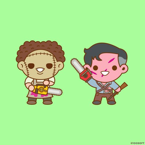 New trendy GIF/ Giphy. kawaii evil dead ash chainsaw leatherface. Let like/ repin/ follow @cutephonecases