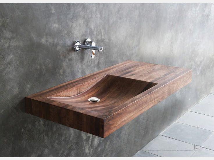 14 besten bad waschtisch holz bilder auf pinterest waschtisch holz badezimmer und waschbecken. Black Bedroom Furniture Sets. Home Design Ideas