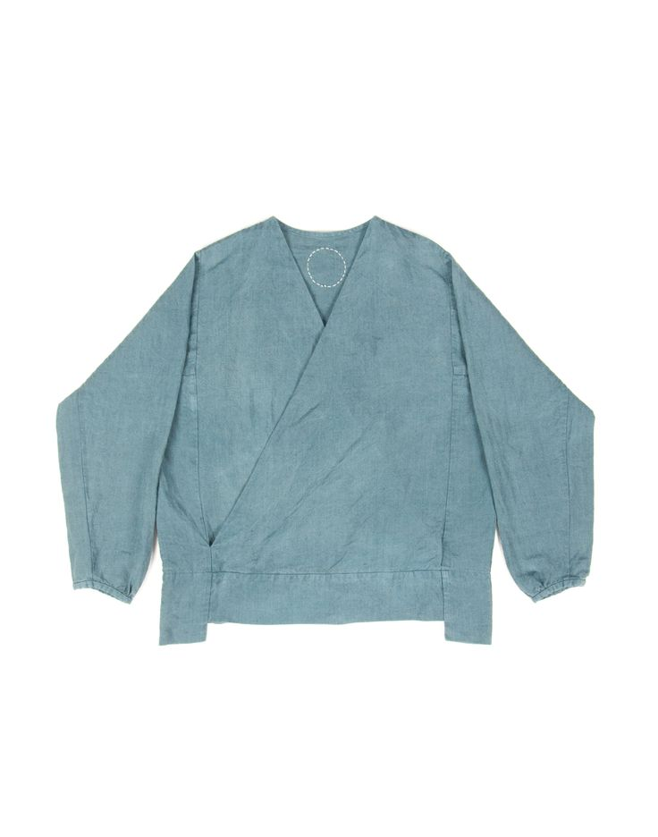 [Center for COSMIC WONDER Online Store] Herbal dyed folk linen blouse