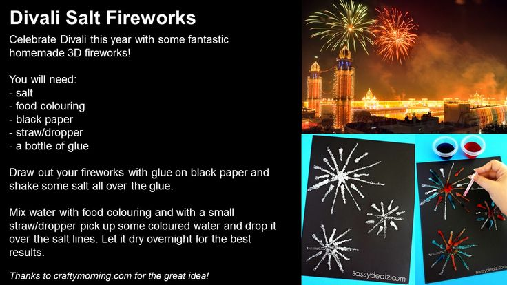 Make your own Divali Salt Fireworks this week to celebrate the Hindu festival of lights! How will you be celebrating this year?