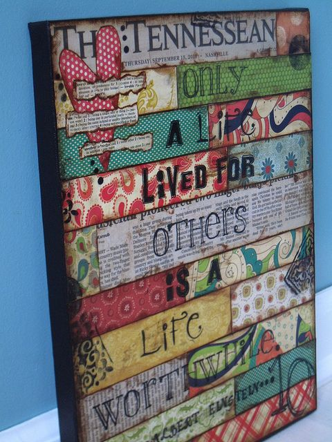 Cool idea.. Put your favorite quote or scripture in!