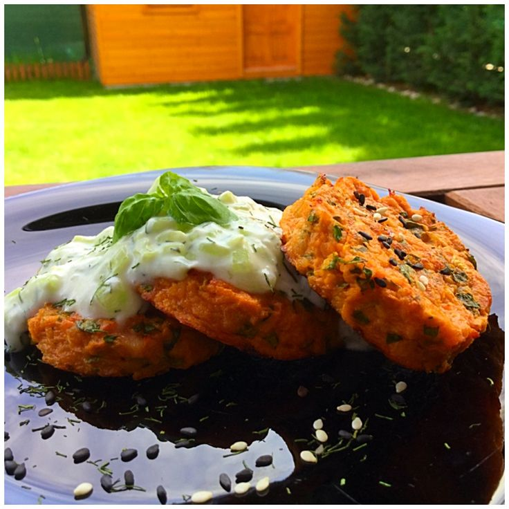Chiftelute de somon – My Baby Food #somon #tzatziki #sweetpotatoe #susan #seeds #yoghurt