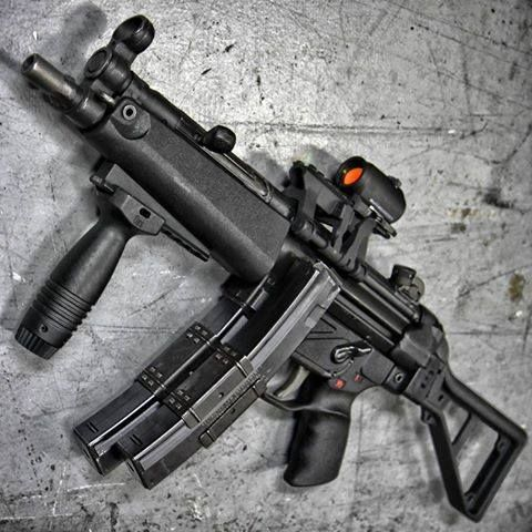 HK MP-5   @WeaponLovers Loading that magazine is a pain! Get your Magazine speedloader today! http://www.amazon.com/shops/raeind