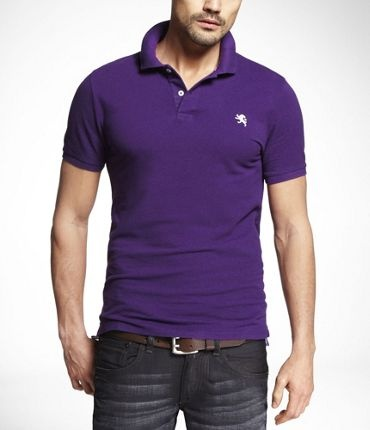 Express Polo Purple Gold Fashion For All Pinterest