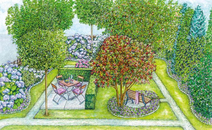 Wenn ein Gartengrundstück von der Straße oder dem Gehweg aus einsehbar ist, sind gute Ideen gefragt. Unsere beiden Gestaltungsvorschläge sorgen für Privatsphäre, ohne den Garten zu sehr abzuschotten. Mit Pflanzplänen zum Herunterladen.