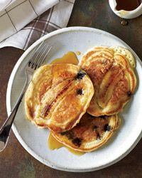 Breakfast and Brunch Recipes from Food & Wine | Blueberry-Banana Pancakes |