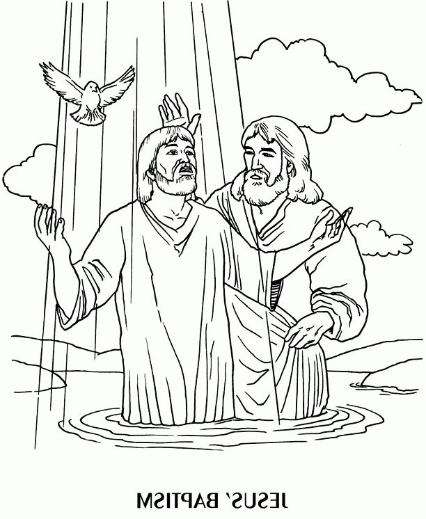 Jesus Baptism Coloring Page Jesus Coloring Pages Bible Coloring Pages Bible Coloring
