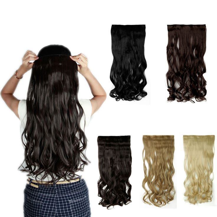 45-70cm Long Curly Wavy Clip in Hair Extensions Half Full Head Hairpiece Clip on Grade AAA Synthetic Hair Piece UK US Fast Post
