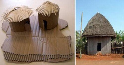 Podemos hacer una maqueta de una cabaña africana de una forma muy fácil y económica. Simplemente utilizando trozos de cartón y palillos. Aquí tenemos una muestra de un alumno de Crisitna. MATERIALES NECESARIOS: Cartón, cartulina, palillos, pegamento. ELABORACIÓN: Cortar un...
