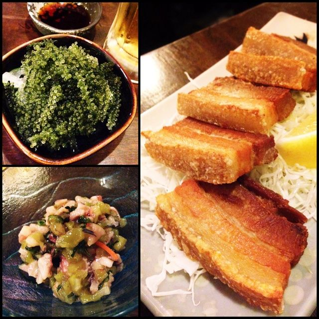 Okinawan Small Dishes & Orion Beer. 177 River Valley Road.  Ramen and pork belly dishes.
