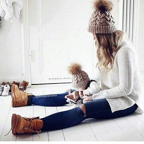 Matching mommy and baby outfit! So cute. Love | mom to be | newborn | baby on board | baby photography | mommy and baby photography.