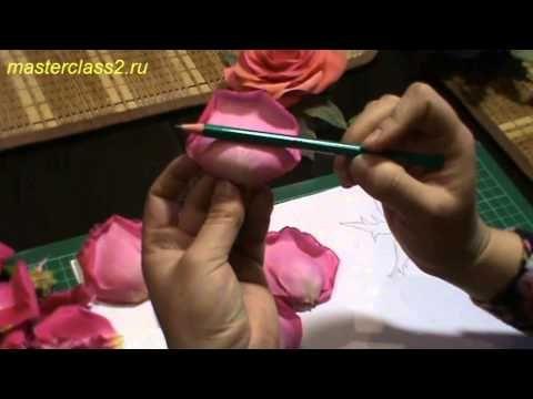 Цветы из ткани. Видео эксперимент - создание выкройки