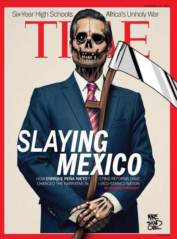 Time: Mit dem Time-Magazin liefert ein weiteres US-Magazin ein hartes, aber sehr gutes politisches Cover.