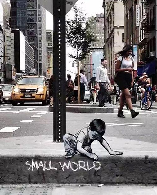 street art by Joe Iurato in New York City http://restreet.altervista.org/le-installazioni-intagliate-nel-legno-di-joe-iurato/