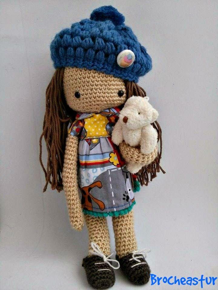 Amigurumi Klesik Doll : Brocheastur: Muneca amigurumi Amigurumies Pinterest