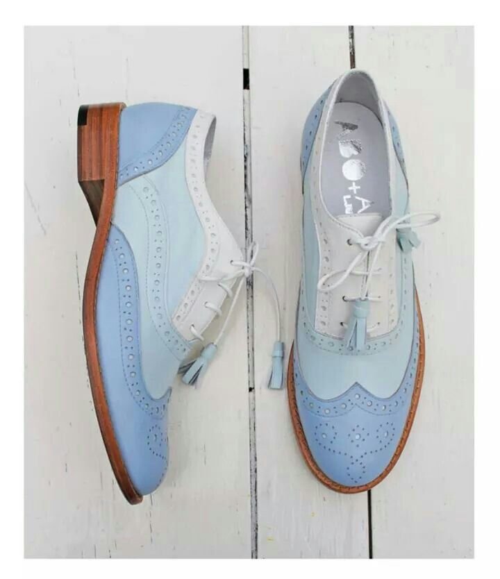 ABO for Ana Ljubinkovic brogues by Iva Ljubinkovic #abo #brogues #oxfords #shoes #pastel #blue
