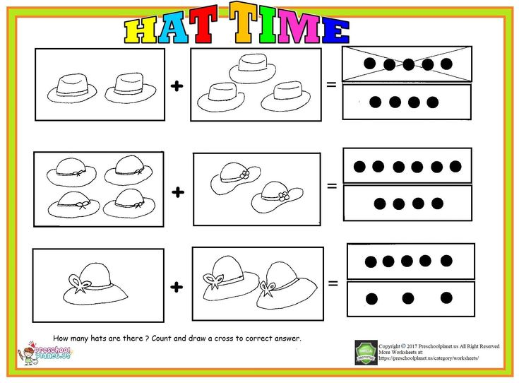 How Many Hats Are There? Count And Draw Across To Correct