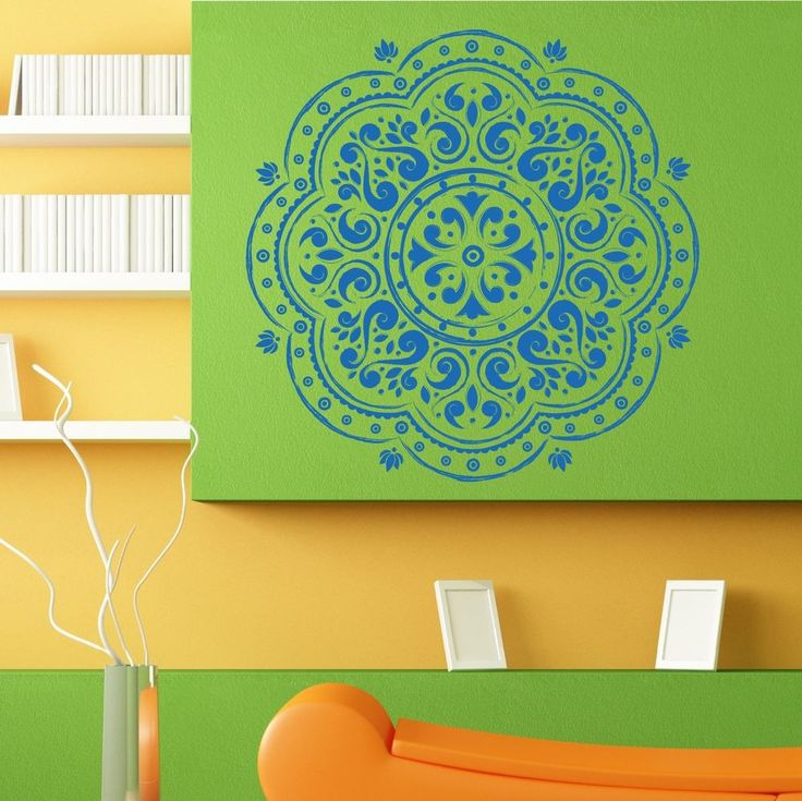 Wall Room Decor Art Vinyl Sticker Mural Decal Mandala Yoga Om Ganesh Flower L105 #3M