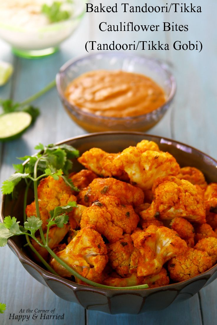 Tandoori/Tikka Cauliflower Bites with a Spicy Yogurt Dip - cauliflower ...