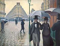 Gustave Caillebotte, (1848–1894), Paris Street, Rainy Day, 18771877, Art Institution, Canvas, Gustave Caillebotte, Chicago, Painting, Paris Streets, Rainy Days, Gustav Caillebotte