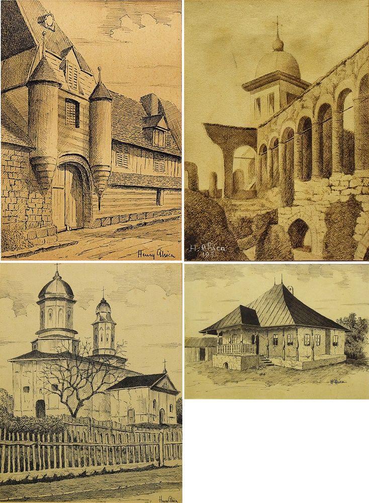 Henry Ghica - 4 lucrări / 4 sketches