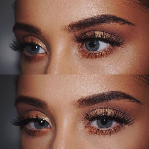Love this sun kissed bronze look paired with the long lashes