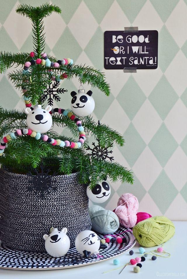 DIY | panda- & eisbär-weihnachtskugeln selbermachen | ©luziapimpinella.com