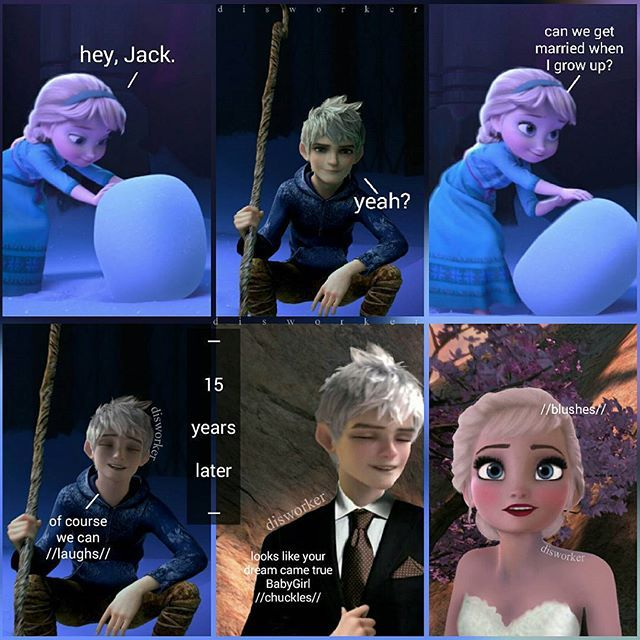 Ok this starts out a little creepy but doesn't Elsa look amazing and Jack look so handsome